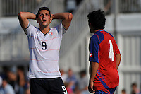 Peri Marosevic (9) of the USA reacts to a missed scoring opportunity. The US U-20 Men's National Team defeated the U-20 Men's National Team of Costa Rica 2-1 in an international friendly during day four of the US Soccer Development Academy  Spring Showcase in Sarasota, FL, on May 25, 2009.