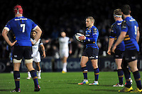 Ian Madigan of Leinster Rugby looks on during a break in play. European Rugby Champions Cup match, between Leinster Rugby and Bath Rugby on January 16, 2016 at the RDS Arena in Dublin, Republic of Ireland. Photo by: Patrick Khachfe / Onside Images