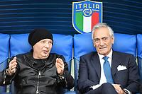 Sinisa Mihajlovic coach of Bologna FC and Gabriele Gravina president of Italian football federation FIGC <br /> Roma 11-10-2019 Stadio Olimpico <br /> European Qualifiers Qualifying round <br /> Italy - Greece day -1 training<br /> Photo Andrea Staccioli/Insidefoto