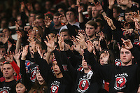STANFORD, CA - JANUARY 9:  The Sixth Man student fans of the Stanford Cardinal during Stanford's 70-59 win over the UCLA Bruins on January 9, 2009 at Maples Pavilion in Stanford, California.