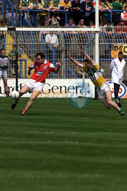 Action from the Louth v Offaly  match in Croke Park.Pic Fran Caffrey Newsfile..