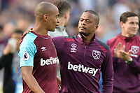 Patrice Evra of West Ham during West Ham United vs Everton, Premier League Football at The London Stadium on 13th May 2018
