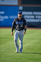 Tristen Carranza (37) of the Missoula Osprey before the game against the Ogden Raptors at Lindquist Field on August 12, 2019 in Ogden, Utah. The Raptors defeated the Osprey 4-3. (Stephen Smith/Four Seam Images)