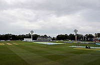 Covers are on the pitch prior to Kent CCC vs Essex CCC, Friendly Match Cricket at The Spitfire Ground on 27th July 2020