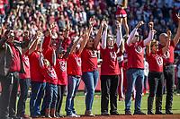 NWA Democrat-Gazette/BEN GOFF @NWABENGOFF<br /> Arkansas vs Mississippi State Saturday, Nov. 2, 2019, at Reynolds Razorback Stadium in Fayetteville.