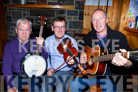 Patsy Broder, Jerome Hartnett and Cormac O'Mahony getting into tune for this weekends Padraig O'Keeffe traditional music festival