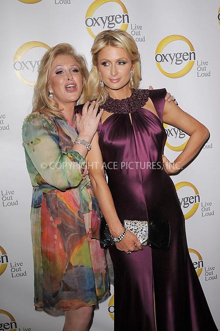 WWW.ACEPIXS.COM . . . . . .April 4, 2011...New York City...Kathy Hilton and Paris Hilton attend the Oxygen Upfront Presentation on April 4, 2011 in New York City....Please byline: KRISTIN CALLAHAN - ACEPIXS.COM.. . . . . . ..Ace Pictures, Inc: ..tel: (212) 243 8787 or (646) 769 0430..e-mail: info@acepixs.com..web: http://www.acepixs.com .