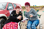 Joanne May and Martine Moriarty (Ballyferriter) enjoying the Béal Ban horse and pony races on Sunday afternoon.