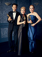 Oscar® winners Kazu Hiro, Vivian Baker and Anne Morgan during the 92nd Oscars® on Sunday, February 9, 2020 at the Dolby Theatre® in Hollywood, CA, televised live by the ABC Television Network.<br /> *Editorial Use Only*<br /> CAP/AMPAS<br /> Supplied by Capital Pictures