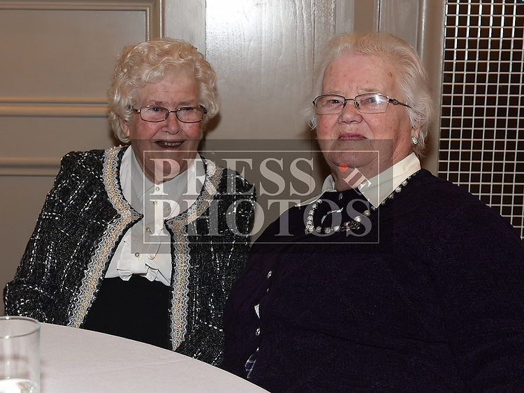Peggy McGrane celebrating her 90th birthday with friend Julia Maguire in the Thatch. Photo:Colin Bell/pressphotos.ie