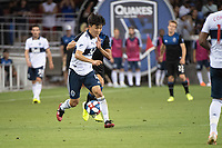 SAN JOSE, CA - AUGUST 25: Inbeom Hwang #4 of the Vancouver Whitecaps during a game between Vancouver Whitecaps FC and San Jose Earthquakes at Avaya Stadium on August 24, 2019 in San Jose, California.