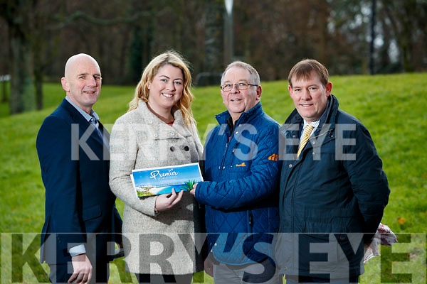 Bernard Keane from Marian Park Tralee, won the €1,500 prize in the Kerry's Eye, Premier Travel Holiday Competition He is pictured here receiving his prize from Norma Moriarty,  Premier Travel also in photo are Brendan Kennelly and Sean O'Keeffe, Kerry's Eye..