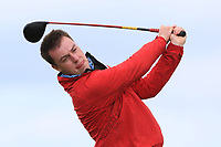 Jack McDonnell (Forrest Little) on the 10th tee during Round 4 of The East of Ireland Amateur Open Championship in Co. Louth Golf Club, Baltray on Monday 3rd June 2019.<br /> <br /> Picture:  Thos Caffrey / www.golffile.ie<br /> <br /> All photos usage must carry mandatory copyright credit (© Golffile | Thos Caffrey)