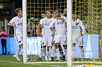 San Jose, CA - Wednesday September 19, 2018: Chris Wondolowski, goal waved off during a Major League Soccer (MLS) match between the San Jose Earthquakes and Atlanta United FC at Avaya Stadium.