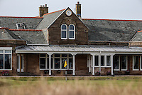 Royal Troon Clubhouse during Round One of the 145th Open Championship, played at Royal Troon Golf Club, Troon, Scotland. 14/07/2016. Picture: David Lloyd | Golffile.<br /> <br /> All photos usage must carry mandatory copyright credit (&copy; Golffile | David Lloyd)