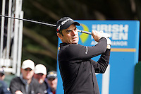 Paul McGinley tees off on the 1st during the third round of the Irish Open on 19th of May 2007 at the Adare Manor Hotel & Golf Resort, Co. Limerick, Ireland. (Photo byEoin Clarke/NEWSFILE)