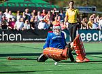 BLOEMENDAAL   - Hockey -  2e wedstrijd halve finale Play Offs heren. Bloemendaal-Amsterdam (2-2) . keeper Jaap Stockmann (Bldaal) tijdens de shoot outs.    COPYRIGHT KOEN SUYK