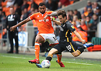 Blackpool's Curtis Tilt and Bradford City's Jack Payne<br /> <br /> Photographer Rachel Holborn/CameraSport<br /> <br /> The EFL Sky Bet League One - Blackpool v Bradford City - Saturday September 8th 2018 - Bloomfield Road - Blackpool<br /> <br /> World Copyright &copy; 2018 CameraSport. All rights reserved. 43 Linden Ave. Countesthorpe. Leicester. England. LE8 5PG - Tel: +44 (0) 116 277 4147 - admin@camerasport.com - www.camerasport.com