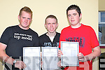 LEAVING CERT: PJ Butler, Keith Francis and Ryan O'Connor (Ballybunion) were delighted with the leaving cert result as they collectecd them on Wednesday atb their school St Josephs Secondry School, Ballybunion...