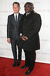 (L-R) Stefano Tonchi and Edward Enninfu arrive at the Gordon Parks Foundation 2014 Award Dinner and Auction on June 3, 2014 at Cipriani Wall Street, located on 55 Wall Street.