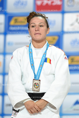 Andreea Chitu (ROU), AUGUST 25, 2015 - Judo : World Judo Championships Astana 2015 Women's -52kg Medal Ceremony at Alau Ice Palace in Astana, Kazakhstan. (Photo by AFLO SPORT)