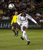 LA Galaxy midfielder Mike Randolph (2) clears a ball out of the box. The Colorado Rapids defeated the LA Galaxy 1-0 during the preliminary rounds of the 2008 US Open Cup at Home Depot Center stadium in Carson, Calif., on Tuesday, May 27, 2008.