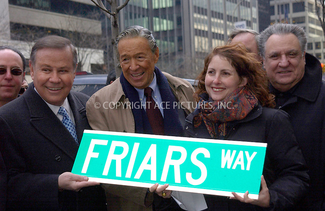 WWW.ACEPIXS.COM . . . . . ....NEW YORK, MARCH 16, 2005....Mike Wallace at the ceremony renaming east 55th street to 'Friar Way' in honor of the New York Friars Club.....Please byline: KRISTIN CALLAHAN - ACE PICTURES.. . . . . . ..Ace Pictures, Inc:  ..Philip Vaughan (646) 769-0430..e-mail: info@acepixs.com..web: http://www.acepixs.com