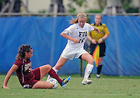 Florida International University women's soccer player Nicole DiPerna (16) plays against the University of Denver on October 16, 2011 at Miami, Florida. FIU won the game 1-0. .