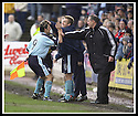 01/02/2003                   Copyright Pic : James Stewart.File Name : stewart-falkirk v st john 14.PAUL HARTLEY CELEBRATES WITH STUART NOBLE AND BOSS BILLY STARK AFTER HE SCORES ST JOHNSTONE'S GOAL......James Stewart Photo Agency, 19 Carronlea Drive, Falkirk. FK2 8DN      Vat Reg No. 607 6932 25.Office     : +44 (0)1324 570906     .Mobile  : +44 (0)7721 416997.Fax         :  +44 (0)1324 570906.E-mail  :  jim@jspa.co.uk.If you require further information then contact Jim Stewart on any of the numbers above.........
