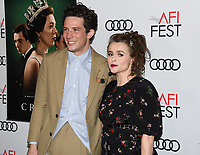 """16 November 2019 - Hollywood, California - Josh O'Connor and Helena Bonham Carter. AFI FEST 2019 Presented By Audi – """"The Crown"""" Premiere held at TCL Chinese Theatre. Photo Credit: Billy Bennight/AdMedia"""