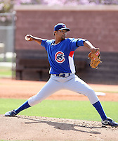 Luis Liria, Chicago Cubs 2010 extended spring training..Photo by:  Bill Mitchell/Four Seam Images.