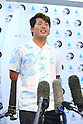 Hiroto Ohara, <br /> AUGUST 4, 2016 - Surfing : <br /> Nippon Surfing Association holds a press conference after it was decided that <br /> the sport of surfing would be added to the Tokyo 2020 Summer Olympic Games on August 3rd, 2016 <br /> in Tokyo, Japan. <br /> (Photo by AFLO SPORT)