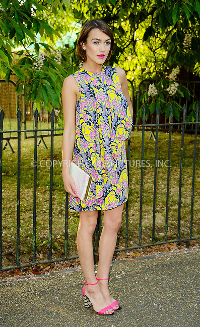 WWW.ACEPIXS.COM<br /> <br /> July 2 2015, New York City<br /> <br /> Ella Catliff arriving at The Serpentine Gallery summer party at The Serpentine Gallery on July 2, 2015 in London, England<br /> <br /> By Line: Famous/ACE Pictures<br /> <br /> <br /> ACE Pictures, Inc.<br /> tel: 646 769 0430<br /> Email: info@acepixs.com<br /> www.acepixs.com