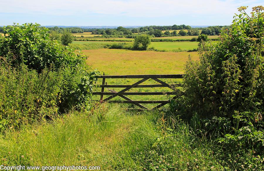 View of Wealden countryside from Sissinghurst castle gardens, Kent, England, UK