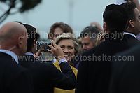 Swansea University, South Wales, UK, Saturday 14th Oct 2017 - <br /> <br /> Hillary Rodham Clinton was today in attendance at Swansea University, where she received an Honorary Doctorate of Laws.<br /> <br /> Hillary Clinton has a selfie taken with some of the students. <br /> <br /> Jeff Thomas Photography -  www.jaypics.photoshelter.com - <br /> e-mail swansea1001@hotmail.co.uk -<br /> Mob: 07837 386244 -