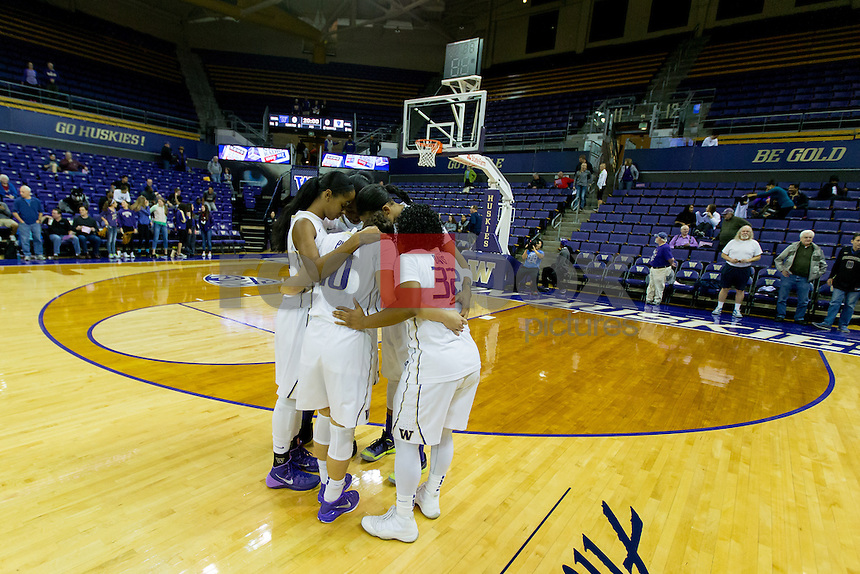 The University of Washington women's basketball team defeat Concordia University at Alaska Airlines Arena on November 5, 2014 .(Photography by Scott Eklund/Red Box Pictures)