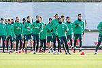 12.03.2020, Trainingsgelaende am wohninvest WESERSTADION,, Bremen, GER, 1.FBL, Werder Bremen Training, im Bild<br /> <br /> Sprintuebungen<br /> Leonardo Bittencourt  (Werder Bremen #10)<br /> Kevin Vogt (Werder Bremen  #03)<br /> Marco Friedl (Werder Bremen #32)<br /> Benjamin Goller (Werder Bremen #39)<br /> Michael Lang (Werder Bremen #04)<br /> Nuri Sahin (Werder Bremen #17)<br /> Yuya Osako (Werder Bremen #08)<br /> Ludwig Augustinsson (Werder Bremen #05)<br /> <br /> <br /> Foto © nordphoto / Kokenge