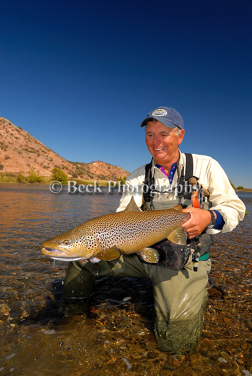 Barry Beck with 8lb Brown trout