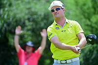 Zach Johnson (USA) watches his tee shot on 9 during round 2 of the Valero Texas Open, AT&amp;T Oaks Course, TPC San Antonio, San Antonio, Texas, USA. 4/21/2017.<br /> Picture: Golffile | Ken Murray<br /> <br /> <br /> All photo usage must carry mandatory copyright credit (&copy; Golffile | Ken Murray)