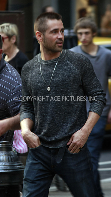 WWW.ACEPIXS.COM . . . . .  ....May 3 2012, Philadelphia....Actor Colin Farrell on the set of the new movie 'Dead Man Down' on May 3 2012 in New York City....Please byline: William T. Wade jr- ACE PICTURES.... *** ***..Ace Pictures, Inc:  ..Philip Vaughan (212) 243-8787 or (646) 769 0430..e-mail: info@acepixs.com..web: http://www.acepixs.com