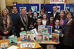 Winners Anna Kate Collins, Ronan Gumba Williams, Conor Kelly, Jennifer O'Donoghue, Chloe Doyle and Sorcha McGeown with Anne Keavney from Drogheda Library, Mayor Paul Bell, Hugh Doogan from Louth Leader Partnership and Drogheda Local Education Committee at the Drogheda Counts Presentation in Drogheda Library...(Photo credit should read Jenny Matthews/NEWSFILE)...