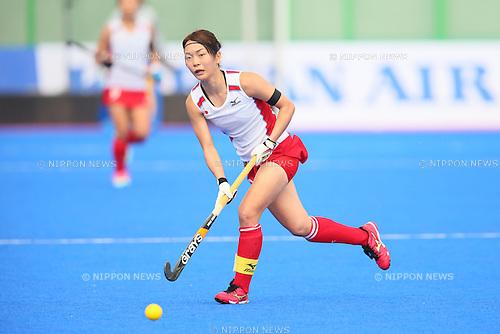 Miyuki Nakagawa (JPN), <br /> SEPTEMBER 26, 2014 - Hockey : <br /> Women's Preliminary <br /> between Kazakhstan Women's 0-8 Japan Women's <br /> at Seonhak Hockey Stadium <br /> during the 2014 Incheon Asian Games in Incheon, South Korea. <br /> (Photo by YUTAKA/AFLO SPORT)