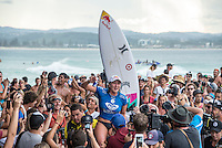 Snapper Rocks, COOLANGATTA, Queensland/Australia (Thursday, March 12, 2015) Carissa Moore (HAW).- Competition at the Quiksilver Pro and Roxy Pro Gold Coast continued today at Snapper Rocks with the finals being decided in both events.. Brazilian Filipe Toledo (BRA) defeated Julian Wilson (AUS) in the final of the men's contest and Carisa Moore (HAW) defeated local and defending champion Stephanie Gilmore (AUS) in the women's event.-  Photo: joliphotos.com