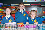 NEW STUDENTS: The new students of Loughfouder NS, Knocknagoshel l-r: Bro?nagh Browne, Niamh Brosnan and E?rina Cotter.   Copyright Kerry's Eye 2008