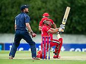 ICC World T20 Qualifier (Warm up match) - Canada V Western District Cricket Union select at Grange CC, Edinburgh - Saad bib Zafar hits to the boundary — credit @ICC/Donald MacLeod - 06.7.15 - 07702 319 738 -clanmacleod@btinternet.com - www.donald-macleod.com