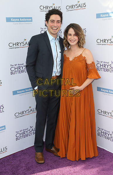 BRENTWOOD, CA June 03- Ben Feldman, Michelle Feldman, at 16th Annual Chrysalis Butterfly Ball at Private Residence, California on June 03, 2017. Credit: Faye Sadou/MediaPunch<br /> CAP/MPI/FS<br /> &copy;FS/MPI/Capital Pictures
