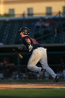 Brian Holbertson (10) of the Lancaster JetHawks bats during a game against the Visalia Rawhide at The Hanger on June 16, 2015 in Lancaster, California. Lancaster defeated Visalia, 11-3. (Larry Goren/Four Seam Images)