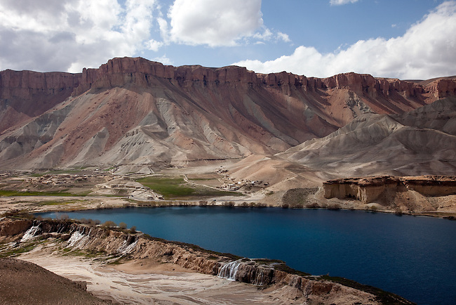 08 May 2012, Bamiyan, Afghanistan :   The blues lakes of Afghanistan's famous Band-e-Amir National Park located outside Bamiyan City . Picture by Graham Crouch/World Bank