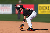 Oregon State Beavers first baseman Zak Taylor (16) during a game against the Gonzaga Bulldogs on February 16, 2019 at Surprise Stadium in Surprise, Arizona. Oregon State defeated Gonzaga 9-3. (Zachary Lucy/Four Seam Images)