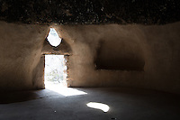 Inside the Cave Dwellings at Bandelier National Monument in New Mexico